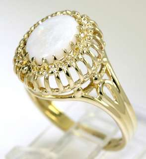 this is a lovely opal and 10k yellow gold ring measuring 5 8 inch long