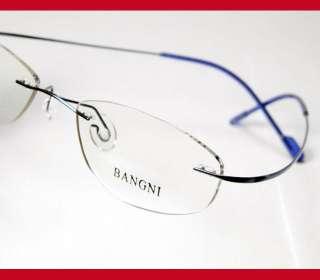 c116a35547 ... Womens rimless titanium eyeglass frames optical BLUE ...