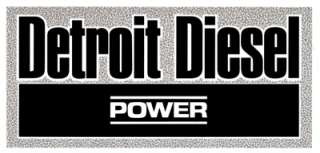 DETROIT DIESEL POWER VINTAGE STICKER