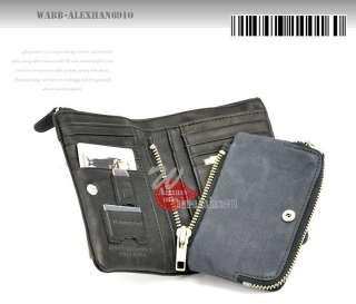 NEW TOUGH JEANS Mens Leather Wallet 68160 Black