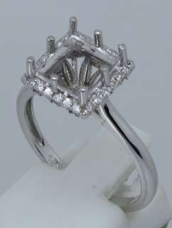 Princess 8×8MM SOLID 14K W/Gold DIAMOND SEMI MOUNT RING