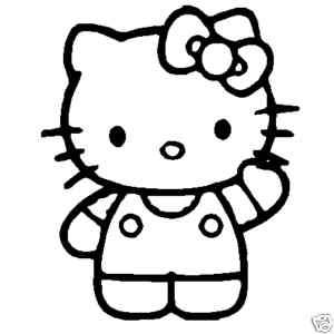 Hello Kitty Decal (Red, White, or Black) JDM Sticker