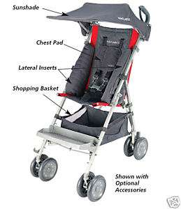 Maclaren Major Special Needs Push Chair Stroller NEW RED/CHARCOAL SAME