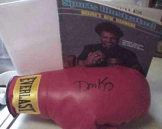 Rare HOFer DON KING signed EVERLAST BOXING GLOVE COA