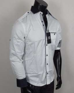 Mens Shirt STONE ROSE Donbas Collection Button up Woven in CYPRESS