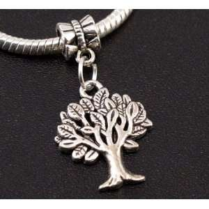 Silver Tree Dangle Charm Bead for Bracelet or Necklace