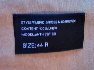 RALPH LAUREN BLACK LABEL tan linen sportcoat jacket 44 R NWT
