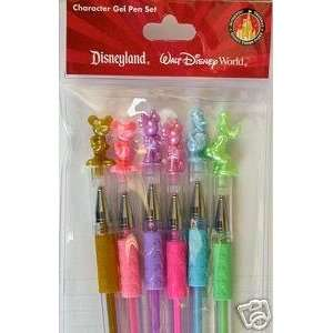 Set Of 6 Disney Character Deluxe Gel Pens (Mickey Mouse, Minnie Mouse