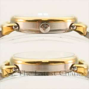 Womens Hermes Rallye Gold Plated and Stainless Steel Wristwatch Good
