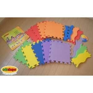 Edushape Edu Tiles 25 Piece Solid Play Mat with Edges & Corners