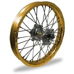 Pro Wheel Pro Wheel 1.60x14 MX Rear Wheel   Gold Rim/Silver Hub