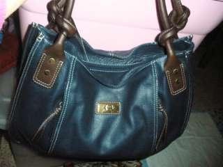 Italian Leather Bag, Elephant Logo Tote, Drk Blue, NWT $298