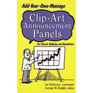 Clip Art Announcement Panels: For Church Bulletins and