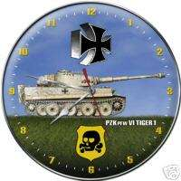 WW II Pzk Pfw VI Tiger I Tank Collectible Wall Clock