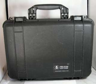 NICE BLACK PELICAN 1500 WATER PROOF HARD CASE 19x13x7