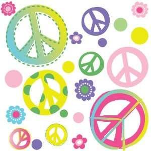 Peace Signs & Flowers Home/Dorm/Kids Room Wall Art