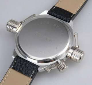 LARGE DIAL MENS BLACK & SILVER QUARTZ WRIST WATCH  FG09 UK SELLER