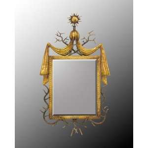 Metal Frame With Center Bevel Mirror