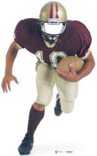 FOOTBALL PLAYER Cardboard Standup LIFESIZE PARTY PROP
