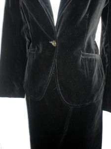 VTG  BLACK outfit dress career business VELVET SKIRT