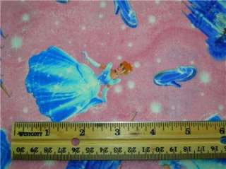 New Cinderella Fabric BTY Disney Princess Pink