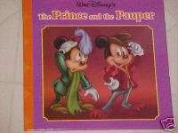 NEW DISNEY MICKEY MOUSE CHILDRENS BOARD BOOK THE PRINCE & THE PAUPER