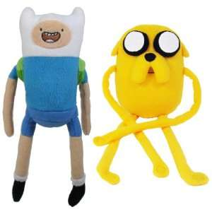 Adventure Time With Finn & Jake 10 Plush Set Of 2 Toys & Games