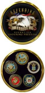 NAVY ENDURING FREEDOM EAGLE OEF MILITARY CHALLENGE COIN