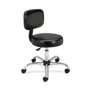 New   Medical Exam Stool with Back, 24 1/4 x 27 1/4 x 36