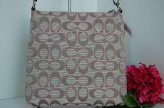 Signature Khaki Sparkle Pink Poppy Swingpack Crossbody 44869