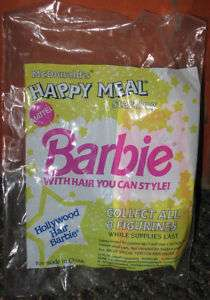1992 McDonalds Hollywood Hair Barbie Happy Meal Toy