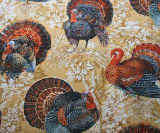 Timeless Treasures Turkey Thanksgiving Autumn Fabric Yd