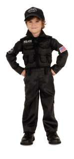 SWAT POLICE boys toddler kids costume S 4 6