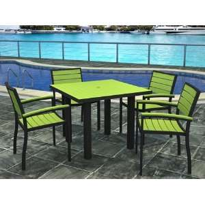 Recycled Plastic Patio Dining Set Pacific Blue Patio, Lawn & Garden