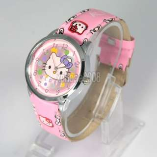 Pink cute lovely colorful Hellokitty Quartz Wrist Watch Party Gift
