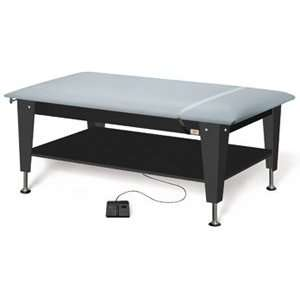 Hi Lo Power Plinth Table, color regimental blue, Length Width Height