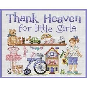 Thank Heaven for Little Girls Cross Stitch Pattern Arts