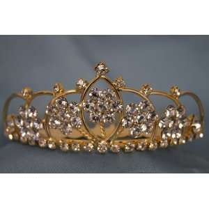 Bridal Wedding Tiara Crown with Crystal Party Accessories DH5764(GOLD