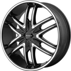 KMC KM678 22x9.5 Black Wheel / Rim 5x4.5 & 5x4.75 with a 15mm Offset