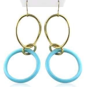 Faraone Mennella Yellow gold New 18k Turquoise Earrings