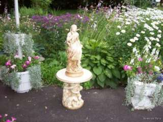 vintage shabby PEDESTAL for STATUE~plant stand~cherub~angel~end table