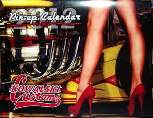 CUSTOMS HOT ROD PIN UP CALENDAR BONNEVILLE SCTA LUCKY 13 CHOPPER