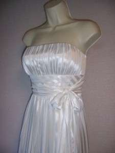 Ivory Strapless Chiffon/Satin Formal Wedding dress Gown 12 NWT