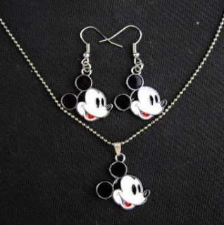 2011 Novel MickeyMouse Kid Girls Lady Mini Necklace with Earring Xmas