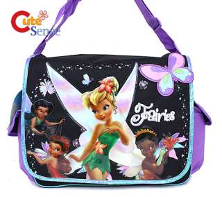 Disney Tinkerbell Faires School Messenger Bag Violet