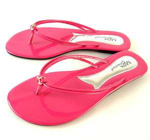NEW FLAT JEWEL THONG FLIP FLOP SANDALS PINK PATENT