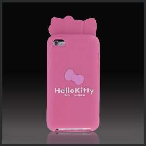 Pink Hello Kitty w Ears & Bow Flexa silicone case cover