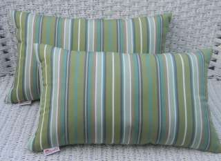 SUNBRELLA INDOOR OUTDOOR LUMBAR PILLOWS  CHOICE OF STRIPE