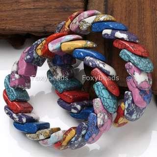 Colorful Howlite Turquoise Gemstone Lady Girl Bracelet
