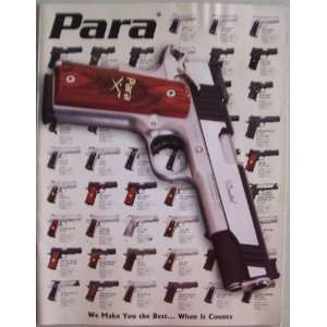 Para (firearms catalog) cover featuring 1911 Limited (We make you the